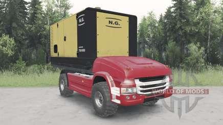 Беспилотный грузовик Scania для Spin Tires