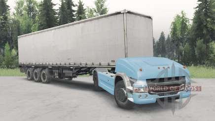 Беспилотный грузовик Scania 4x4 v2.1 для Spin Tires
