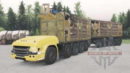 Беспилотный грузовик Scania 10x10 для Spin Tires