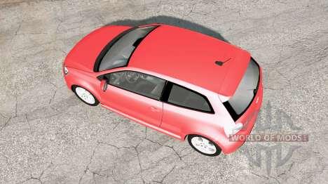 Volkswagen Polo GTI 3-door (Typ 6R) 2010 v1.02 для BeamNG Drive