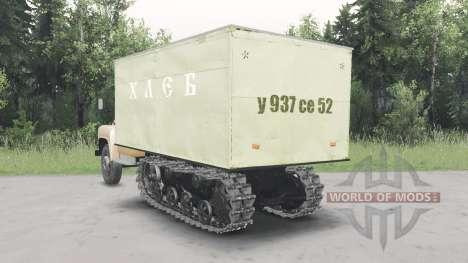ГАЗ-53 полугусеничный v2.0 для Spin Tires