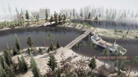 Лес. Река. Мосты для Spintires MudRunner