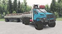 Урал-4320-6951-74 голубой окрас для Spin Tires