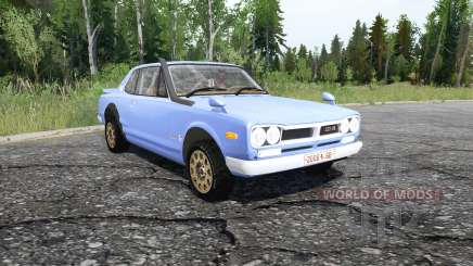 Nissan Skyline 2000GT-R Coupe (KPGC10) 1970 для MudRunner