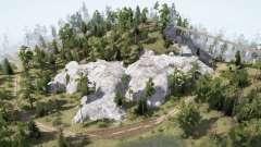 Forest. Rocks для MudRunner