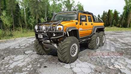 Hummer H2 SUƬ 6x6 для MudRunner