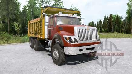 International WorkStar 6x4 Dump Truck 2008 для MudRunner