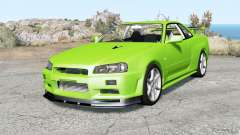 Nissan Skyline GT-R V-spec II (BNR34) Ձ000 для BeamNG Drive