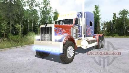 Peterbilt 389 Optimus Prime для MudRunner