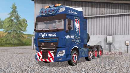 DAF XF 8x4 Space Cab Les Vikings для Farming Simulator 2017