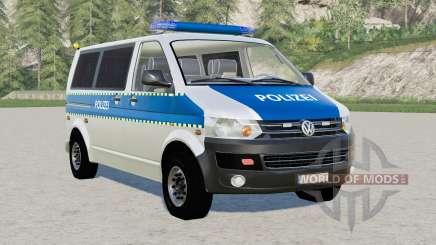 Volkswagen Transporter Kombi (T5) Polizei для Farming Simulator 2017