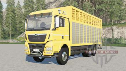 MAN TGX livestock truck для Farming Simulator 2017