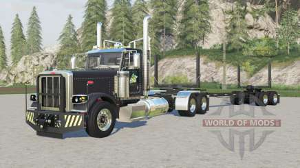 Peterbilt 389 logging truck для Farming Simulator 2017