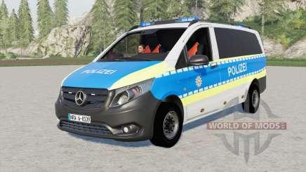 Mercedes-Benz Vito Kastenwagen (W447) Polizei для Farming Simulator 2017
