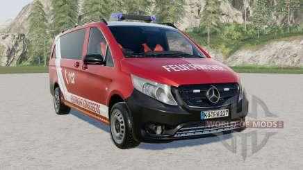 Mercedes-Benz Vito Kastenwagen (W447) Feuerwehr для Farming Simulator 2017