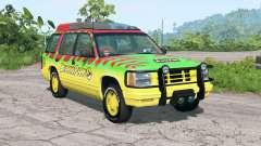 Gavril Roamer Tour Car Jurassic Park v4.2 для BeamNG Drive