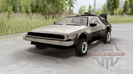 DeLorean DMC-12 time machine для Spin Tires