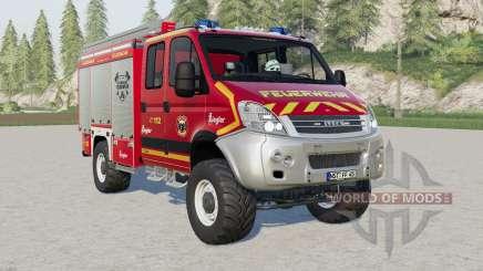 Iveco Daily 4x4 Crew Cab Feuerwehr для Farming Simulator 2017