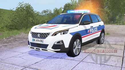 Peugeot 5008 Police National для Farming Simulator 2017