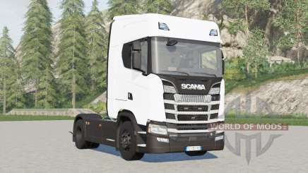 Scania S580 4x4 Highline〡for pulling semitrailer для Farming Simulator 2017