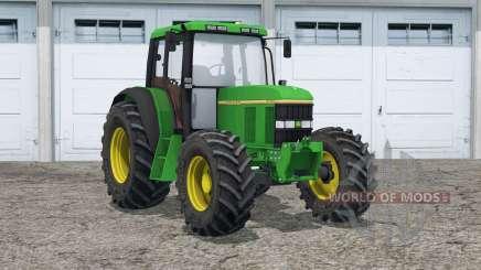 John Deere 6100〡dust from wheels для Farming Simulator 2015