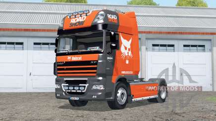 DAF XF105 FT Super Space Cab〡Bobcat Road Show для Farming Simulator 2015