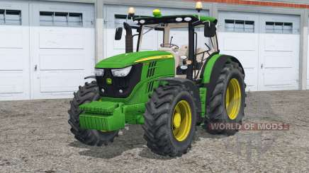 John Deere 6R series〡animated fenders для Farming Simulator 2015