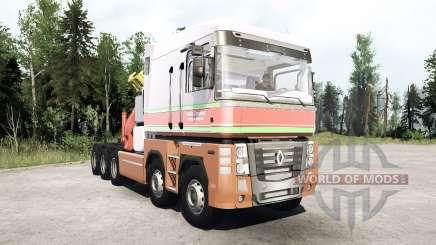 Renault Magnum 10x10 Barelds Transport для MudRunner