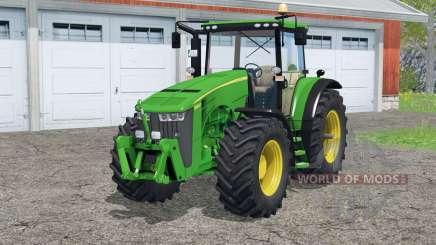 John Deere 8360R〡traces of wheels для Farming Simulator 2015