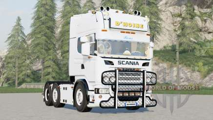 Scania R730 6x4 Streamline Topline Cab〡DHoine для Farming Simulator 2017