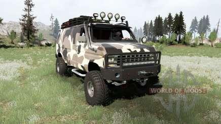 Ford E-350 Econoline Cargo Van 1990 для MudRunner