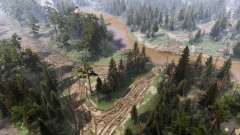 Весенний лес v1.2 для Spin Tires
