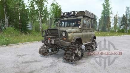 УАЗ 469 на гусеничном ходу для MudRunner