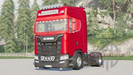 Scania S-series Highline 2017〡extra Hella lights для Farming Simulator 2017