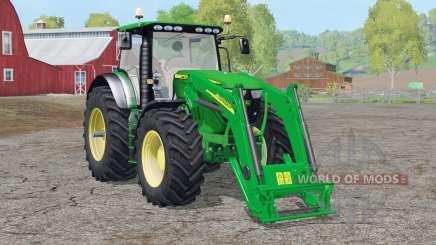 John Deere 6130R〡with front loader для Farming Simulator 2015