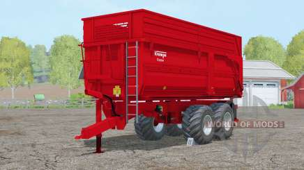 Krampe Big Body 650 S〡steerable axle для Farming Simulator 2015