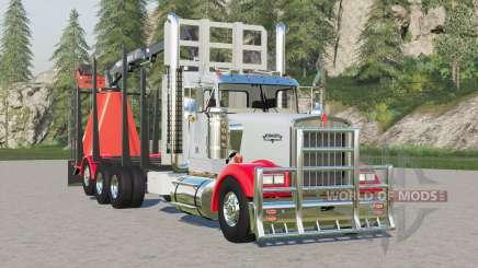 Kenworth W900 Log Truck для Farming Simulator 2017