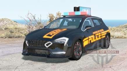 Cherrier Vivace Cyberpunk Police для BeamNG Drive