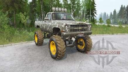 Chevrolet K30 Fleetside 1985〡off-road для MudRunner