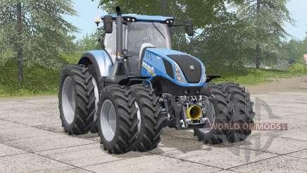 New Holland T7 series〡dual wheels для Farming Simulator 2017