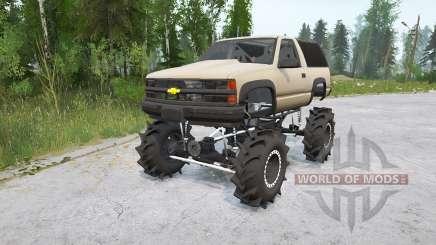 Chevrolet Tahoe Sport 3-door (GMT410) 1995〡off-road для MudRunner