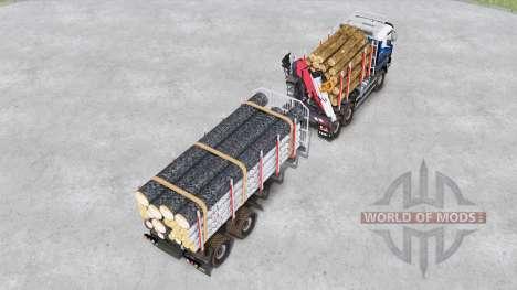 Sisu C600 Timber Truck для Spin Tires