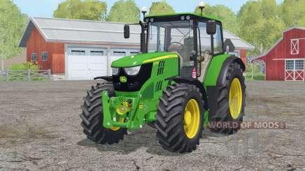 John Deere 6115M〡two versions tractors для Farming Simulator 2015