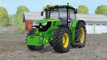 John Deere 6170R〡with front weight для Farming Simulator 2015