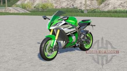 Kawasaki Ninja ZX-10R〡sport bike для Farming Simulator 2017