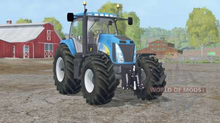 New Holland T8020〡real exhaust particle system для Farming Simulator 2015