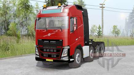 Volvo FH16 750 8x8 tractor Globetrotter cab для Spin Tires