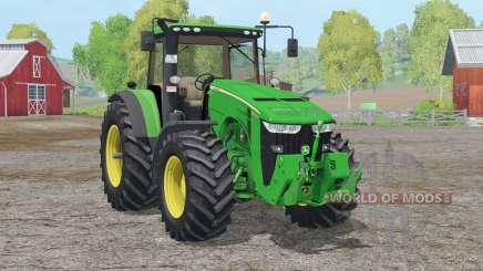 John Deere 8370R〡changed front hydraulic для Farming Simulator 2015