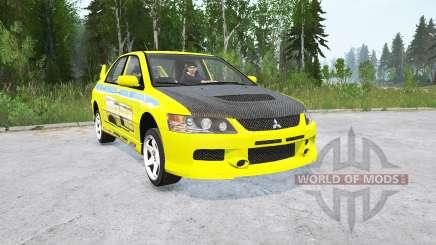Mitsubishi Lancer Evolution IX〡2 Fast 2 Furious для MudRunner