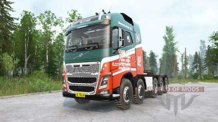 Volvo FH16 750 10x10 Globetrotter XL для MudRunner